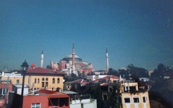 This pic of Istanbul was taken by a digital camera in 2002. It was huge and it saved the pictures on a FLOPPY DISK you inserted in it.